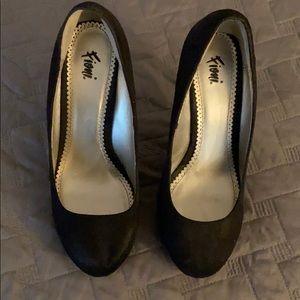 "Black Suede 2"" Heels"